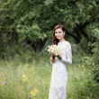 Beautiful bride outdoors — Foto Stock