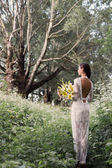 Beautiful bride outdoors — Stock Photo