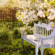 Stock Photo: Garden bench