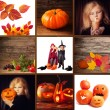 Collage with Halloween decorations — Stock Photo #32813105