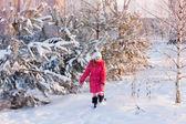 Kız kış parkı — Stok fotoğraf