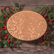 Christmas decoration on wooden background — Stok fotoğraf