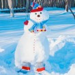 Stock Photo: Snowmen in garden