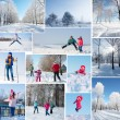Winter collage — Stock Photo #35433401