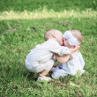 Two little children outdoor — Stock Photo