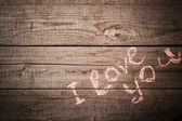 Valentines wooden background — Stock Photo
