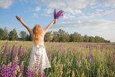 Happy girl outdoor — Stock Photo