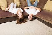 Funny children indoor — Stock Photo