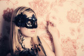 Beautiful Woman in the Carnival mask — Stock Photo