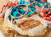 Collection of various jewellery — Stock Photo