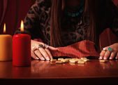 Divination runes — Stock Photo