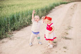 Little children outdoor — Foto de Stock