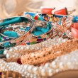 Collection of various jewellery — Stock Photo #44431351
