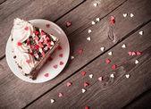 蛋糕用的心 — 图库照片