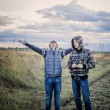 Two teenagers outdoor — Foto Stock