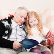 Grandfather and granddaughter — Stock Photo #48952811