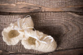 Newborn bootees — Stock Photo