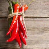 Red chili peppers — Stock Photo