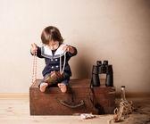 Baby plays indoor — Stock Photo