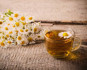 Cup of chamomile tea — Foto Stock