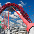 Modern suspension cable-stayed bridge — Stock Photo #11427306