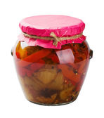 Canned peppers — Stock Photo
