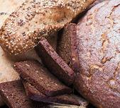 Lots of fresh baked bread — Stock Photo