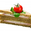 Stockfoto: Sandwich with ham and cheese
