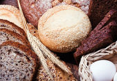 Different assortment fresh bread — Stock Photo