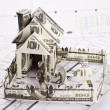 House of the money for the architectural plan — Stock Photo
