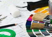 Accessories and tools for home renovation — Stock Photo