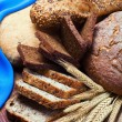 Bakery product assortment with bread — Stock Photo