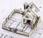 House of the money for the architectural drawing — Stock Photo