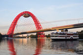 Morning on the Moscow River — Stock Photo