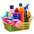 Cleaning equipment in the basket — Stockfoto