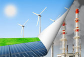 Alternative energy and the environment — Stock Photo