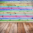 Stock Photo: Wooden floors and walls