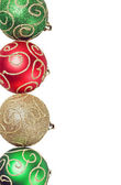 Christmas balls of different colors and decoration — Stock Photo