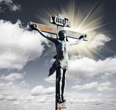 Crucifixion of Jesus Christ in the sky — Stock Photo