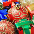 Stock Photo: Christmas gifts and toys