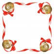 Christmas balls with red bows and ribbons — Zdjęcie stockowe #14288907