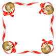 Christmas balls with red bows and ribbons — Stock Photo #14288907