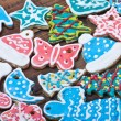 Christmas gingerbread cookies on the table — Stock Photo