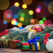 Royalty-Free Stock Photo: Christmas toys and decorations