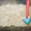 Valentine cookies and old paper with space for congratulations — Stock Photo