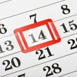 Royalty-Free Stock Photo: Calendar with red mark on 14 February