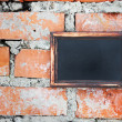 Royalty-Free Stock Photo: Blackboard on brick wall