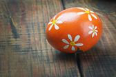 Easter egg painted with flowers — Stock Photo