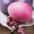Colorful painted Easter eggs - Stock Photo