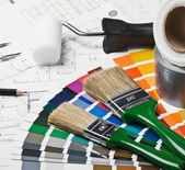 Tools and accessories for home renovation — Stock Photo